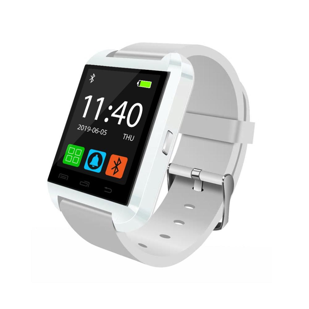 Ceas Smartwatch U8 cu Functie Apelare prin Bluetooth, Pedometru, Notificari, Monitorizare somn – Alb imagine