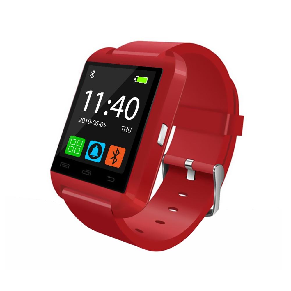 Ceas Smartwatch U8 cu Functie Apelare prin Bluetooth, Pedometru, Notificari, Monitorizare somn – Rosu imagine