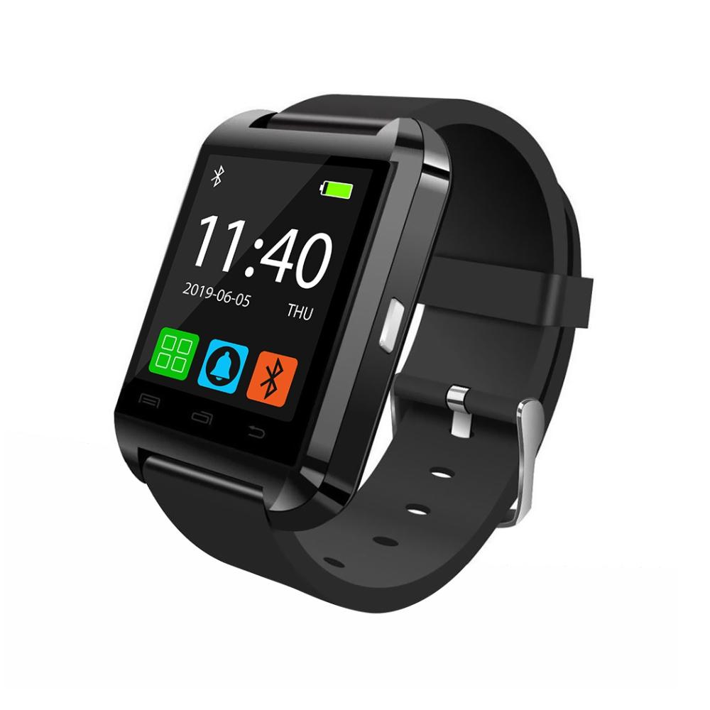 Ceas Smartwatch U8 cu Functie Apelare prin Bluetooth, Pedometru, Notificari, Monitorizare somn – Negru imagine