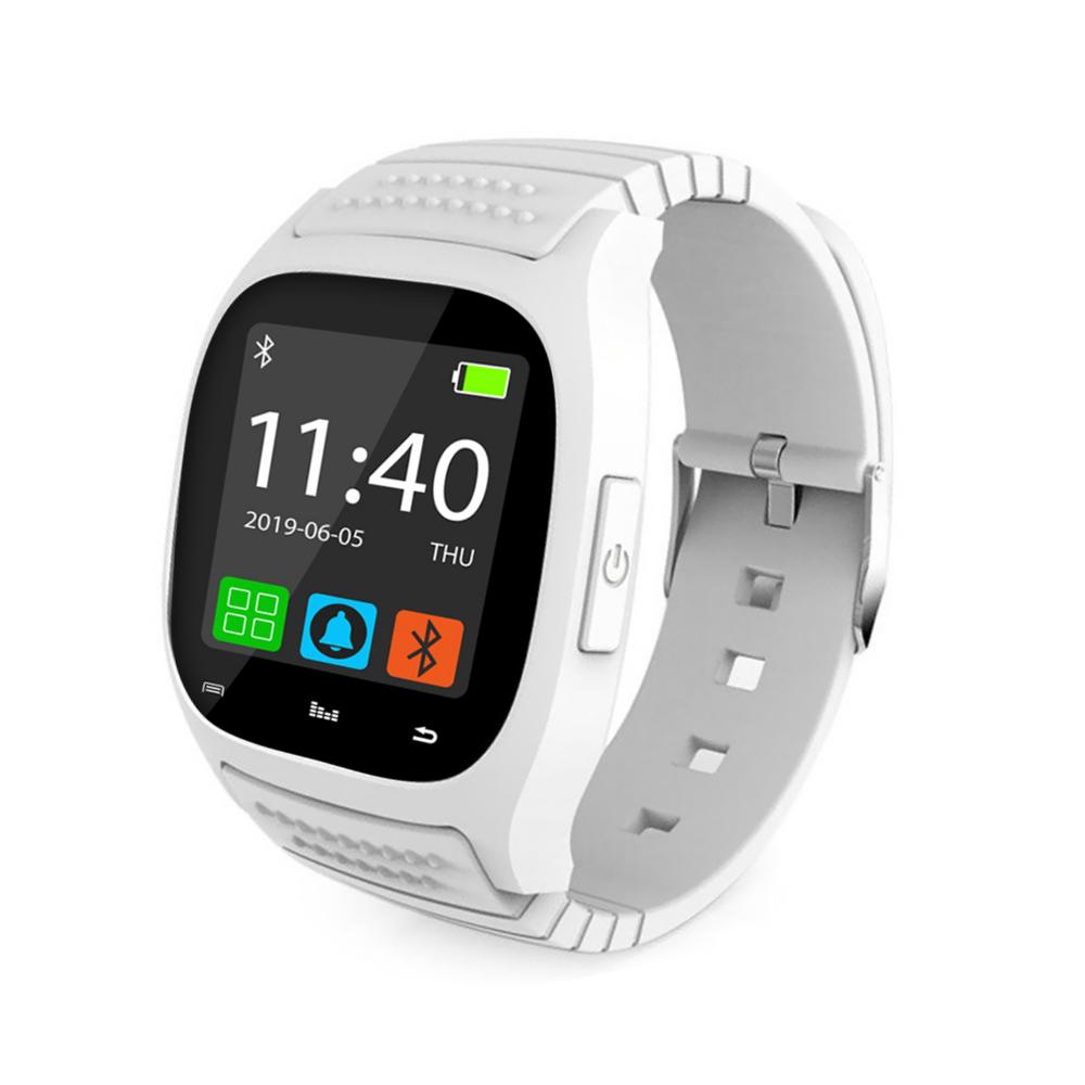 Ceas Smartwatch M26 cu Functie Apelare prin Bluetooth, Pedometru, Notificari, Monitorizare somn – Alb imagine