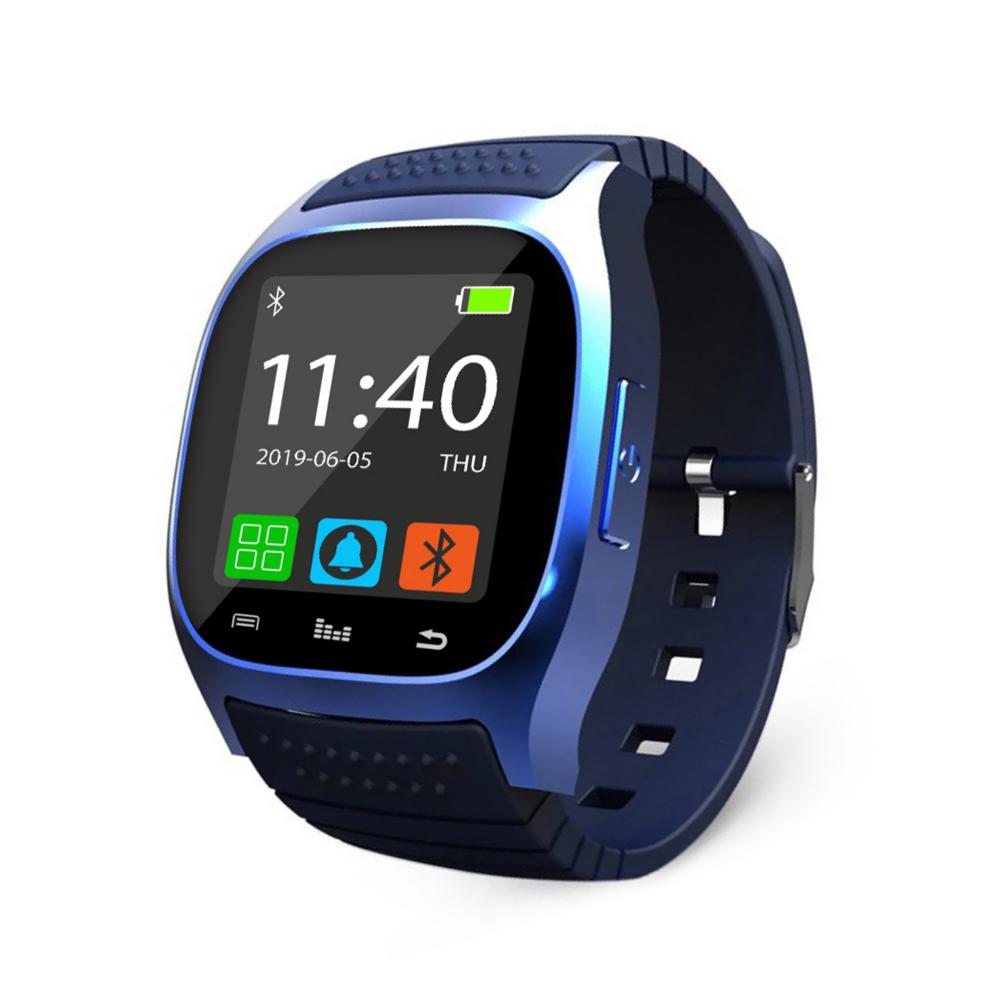 Ceas Smartwatch M26 cu Functie Apelare prin Bluetooth, Pedometru, Notificari, Monitorizare somn – Albastru imagine