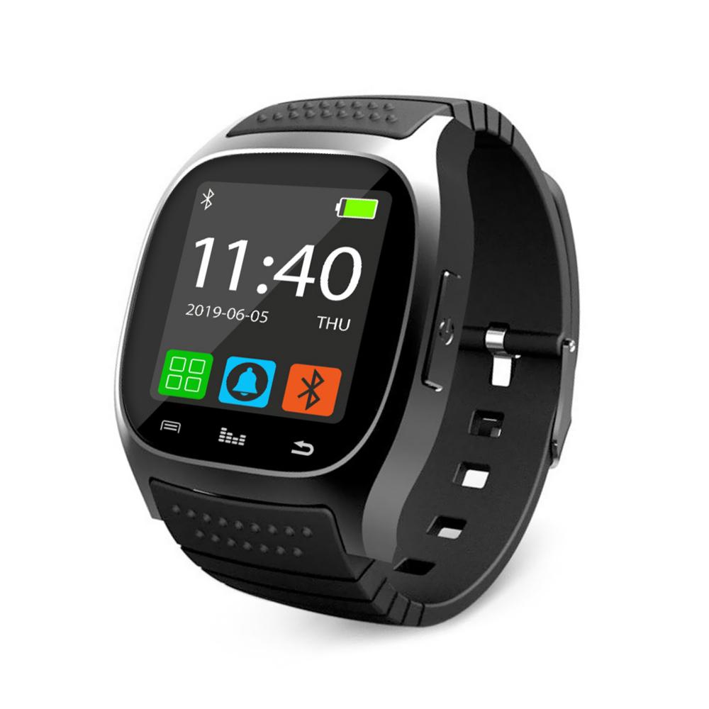 Ceas Smartwatch M26 cu Functie Apelare prin Bluetooth, Pedometru, Notificari, Monitorizare somn – Negru imagine