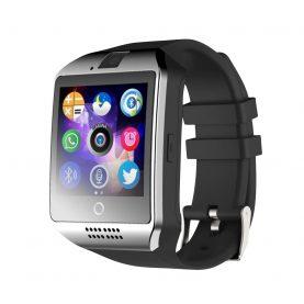 Ceas Smartwatch Q18 cu Functie Apelare, SMS, Camera, Bluetooth, Pedometru, Monitorizare somn, Argintiu