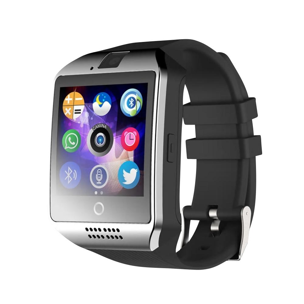 Ceas Smartwatch Q18 cu Functie Apelare, SMS, Camera, Bluetooth, Pedometru, Monitorizare somn, Argintiu imagine