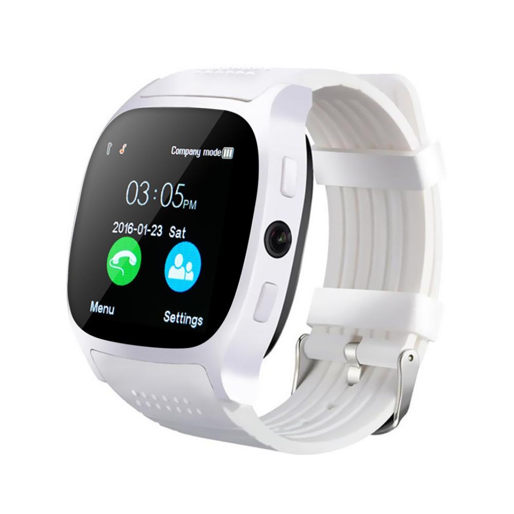 Ceas Smartwatch T8 cu Functie Apelare, SMS, Camera, Bluetooth, Pedometru, Monitorizare somn, Alb imagine