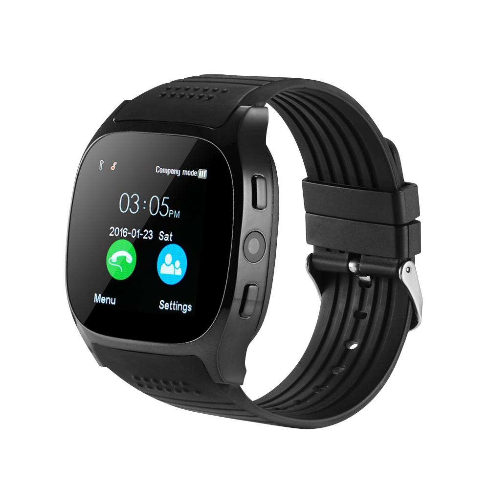 Ceas Smartwatch T8 cu Functie Apelare, SMS, Camera, Bluetooth, Pedometru, Monitorizare somn, Negru imagine