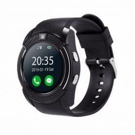 Ceas Smartwatch V8 cu Functie Apelare, SMS, Camera, Bluetooth, Pedometru, Android – Negru