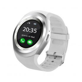 Ceas Smartwatch Y1 cu Functie Apelare, SMS, Bluetooth, Pedometru, Monitorizare somn, Alb
