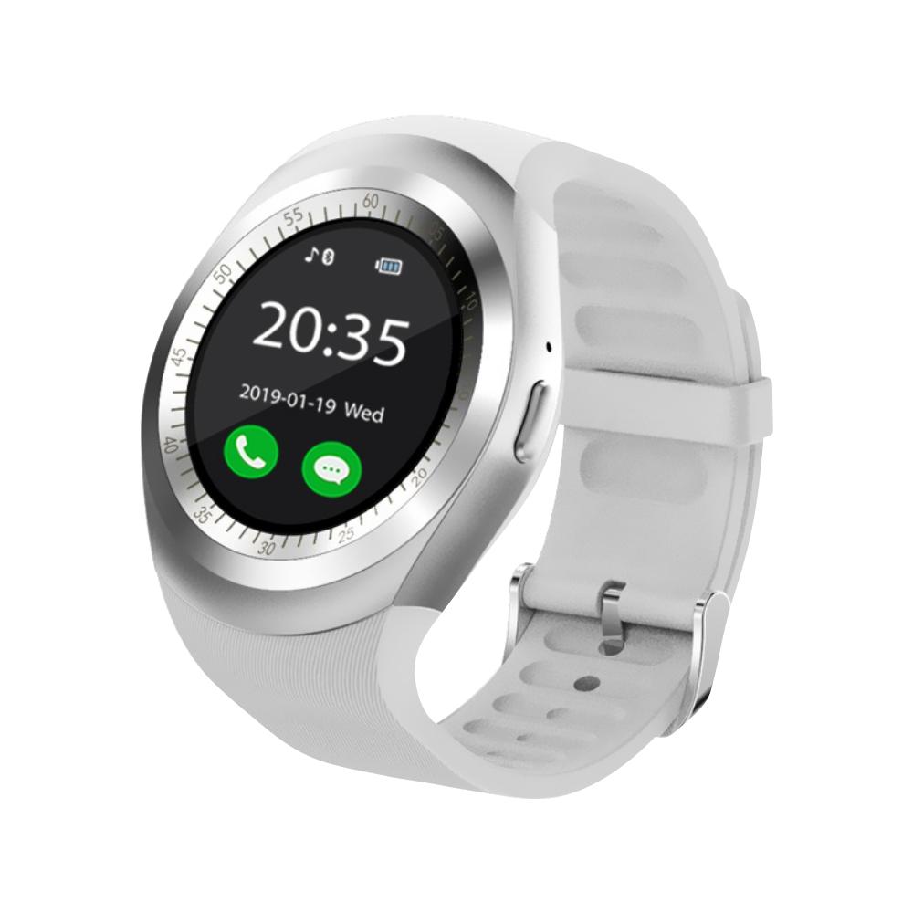 Ceas Smartwatch Y1 cu Functie Apelare, SMS, Bluetooth, Pedometru, Monitorizare somn, Alb imagine