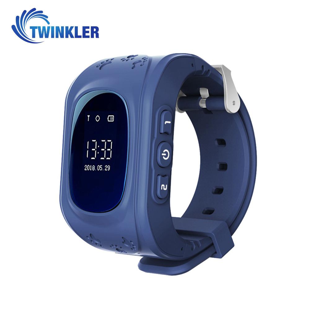 Ceas Smartwatch Pentru Copii Twinkler TKY-Q50 cu Functie Telefon, Localizare GPS, Pedometru, SOS – Albastru, Cartela SIM Cadou imagine