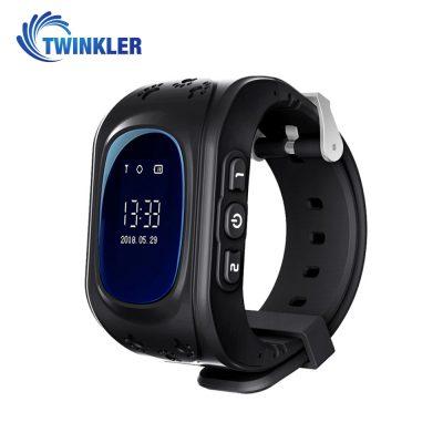 Ceas Smartwatch Pentru Copii Twinkler TKY-Q50 cu Functie Telefon, Localizare GPS, Pedometru, SOS – Negru, Cartela SIM Cadou