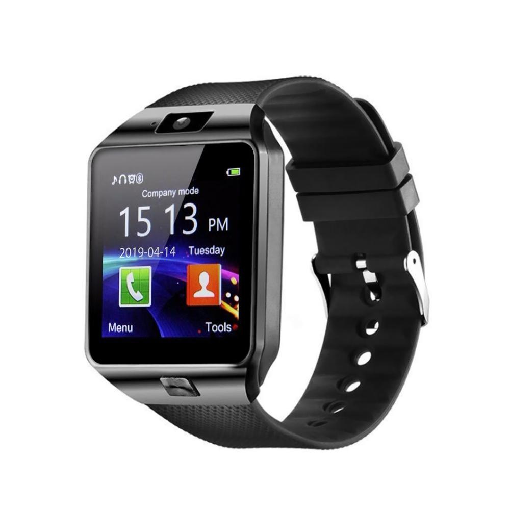 Ceas Smartwatch DZ09 cu Functie Apelare, SMS, Camera, Bluetooth, Pedometru, Android – Negru imagine