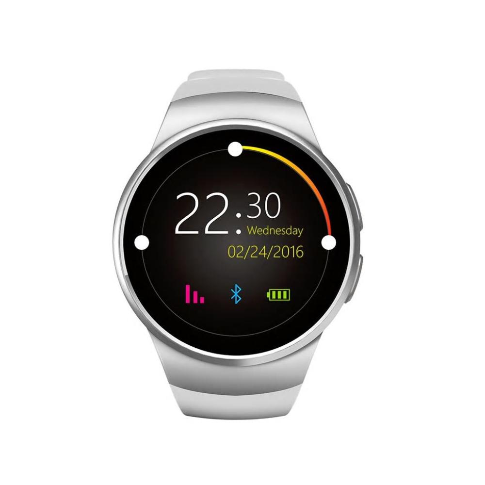 Ceas Smartwatch KW18 cu Functie Apelare, SMS, Senzor puls, Bluetooth, Pedometru, Monitorizare somn, Argintiu – Alb imagine