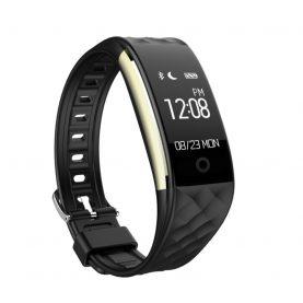 Bratara fitness inteligenta S2 cu masurarea ritmului cardiac, Notificari, Pedometru, Bluetooth, Neagra