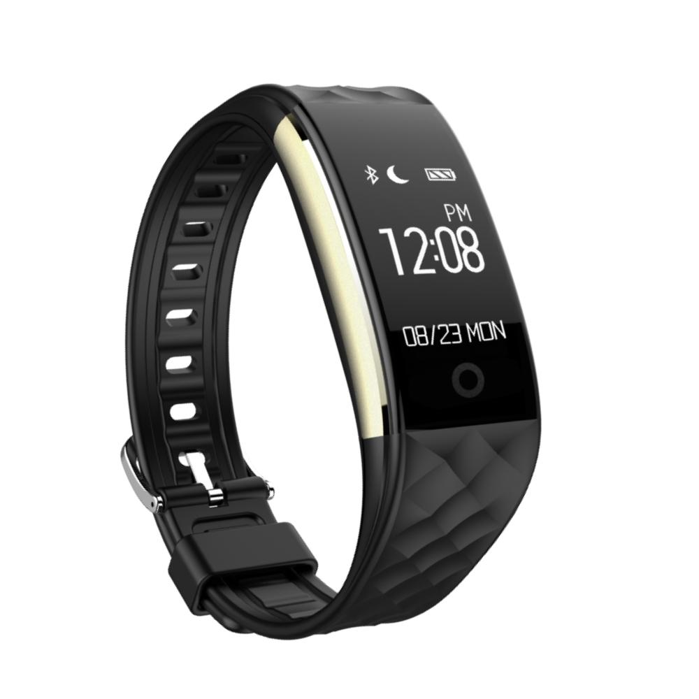 Bratara fitness inteligenta S2 cu masurarea ritmului cardiac, Notificari, Pedometru, Bluetooth, Neagra imagine