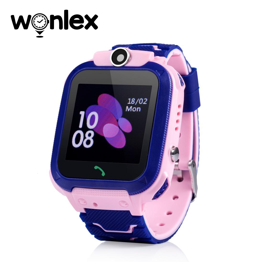 Ceas Smartwatch Pentru Copii Wonlex GW600S cu Functie Telefon, Localizare GPS, Monitorizare somn, Camera, Pedometru, SOS, IP54 – Roz, Cartela SIM Cadou imagine