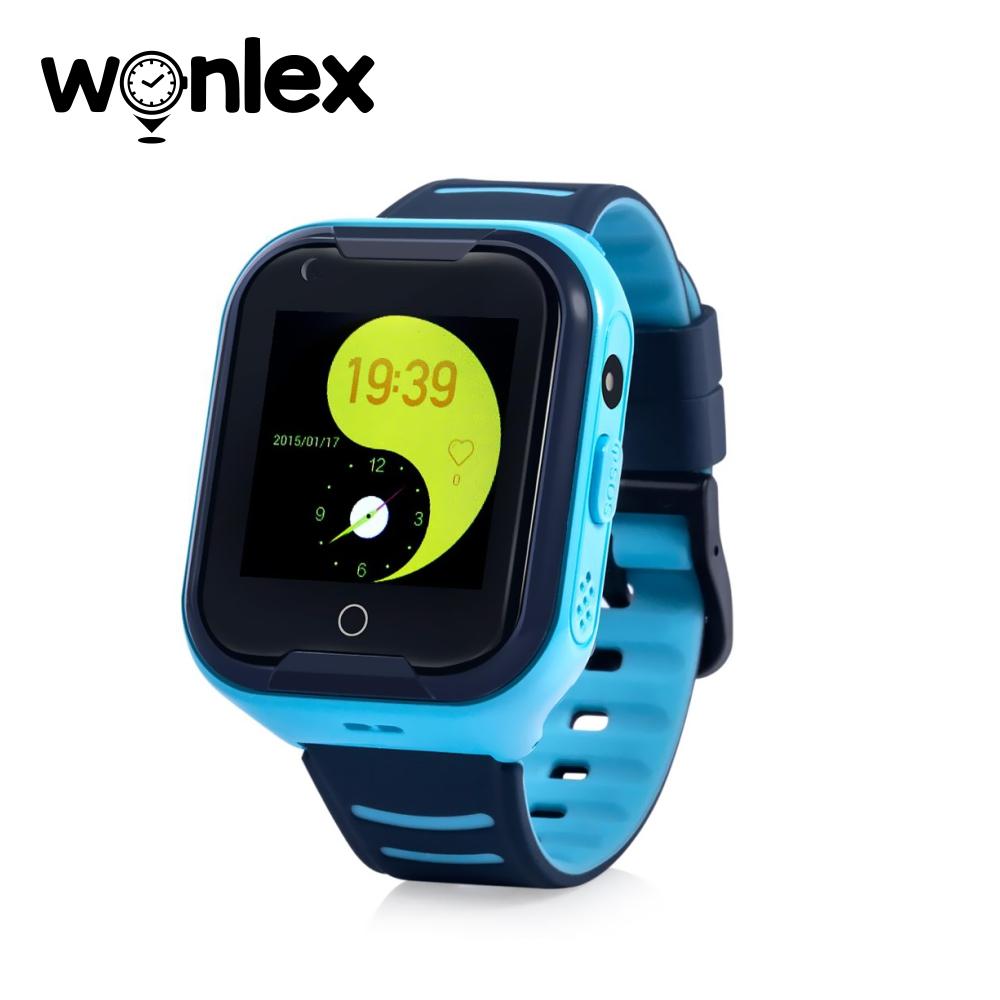 Ceas Smartwatch Pentru Copii Wonlex KT11 cu Functie Telefon, Apel video, Localizare GPS, Camera, Pedometru, Lanterna, SOS, IP54, 4G – Albastru, Cartela SIM Cadou imagine