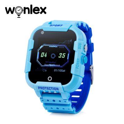 Ceas Smartwatch Pentru Copii Wonlex KT12 cu Functie Telefon, Apel video, Localizare GPS, Camera, Pedometru, SOS, IP54, 4G – Albastru, Cartela SIM Cadou