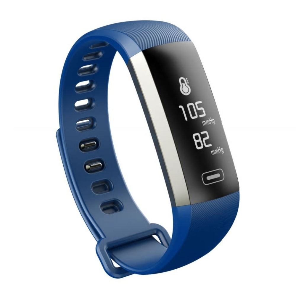 Bratara fitness inteligenta M2S cu masurarea tensiunii arteriale si a ritmului cardiac, Albastra imagine