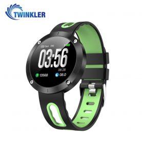 Bratara fitness inteligenta TKY-DM58 Plus cu functie de monitorizare ritm cardiac, Tensiune arteriala, Monitorizare somn, Pedometru, Notificari, Verde