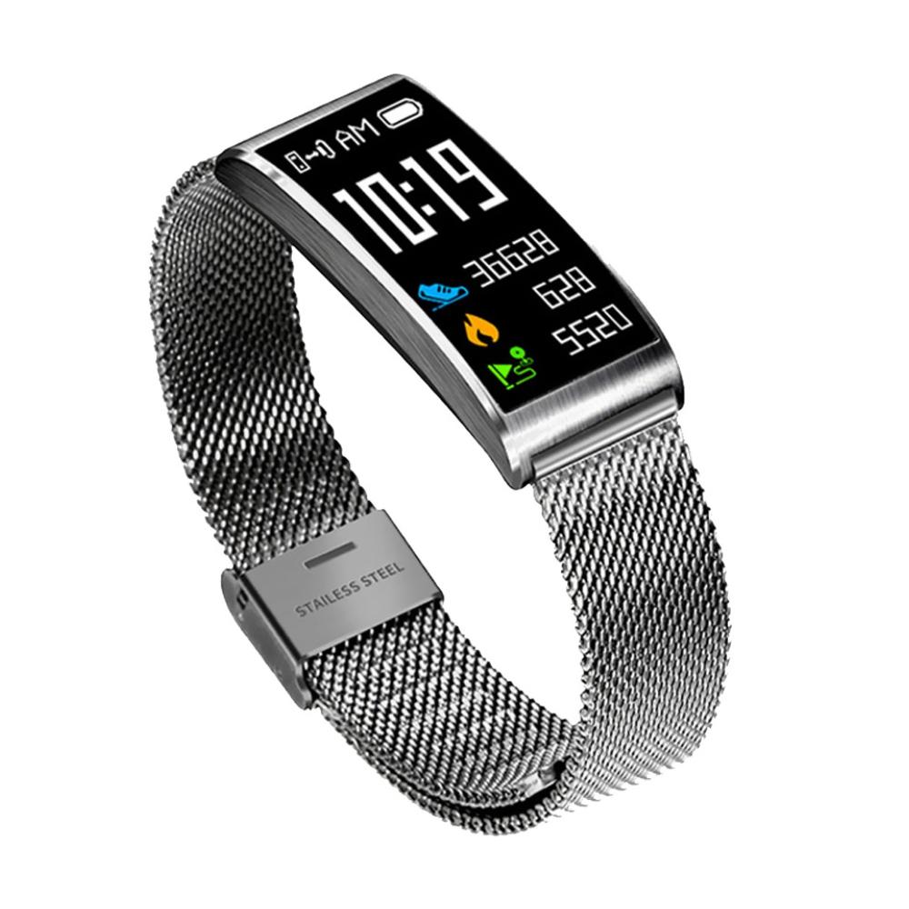 Bratara fitness inteligenta X3 cu functie de monitorizare ritm cardiac, Tensiune arteriala, Monitorizare somn, Notificari, Pedometru, Bluetooth, Argintie imagine