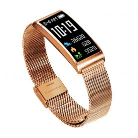 Bratara fitness inteligenta X3 cu functie de monitorizare ritm cardiac, Tensiune arteriala, Monitorizare somn, Notificari, Pedometru, Bluetooth, Aurie