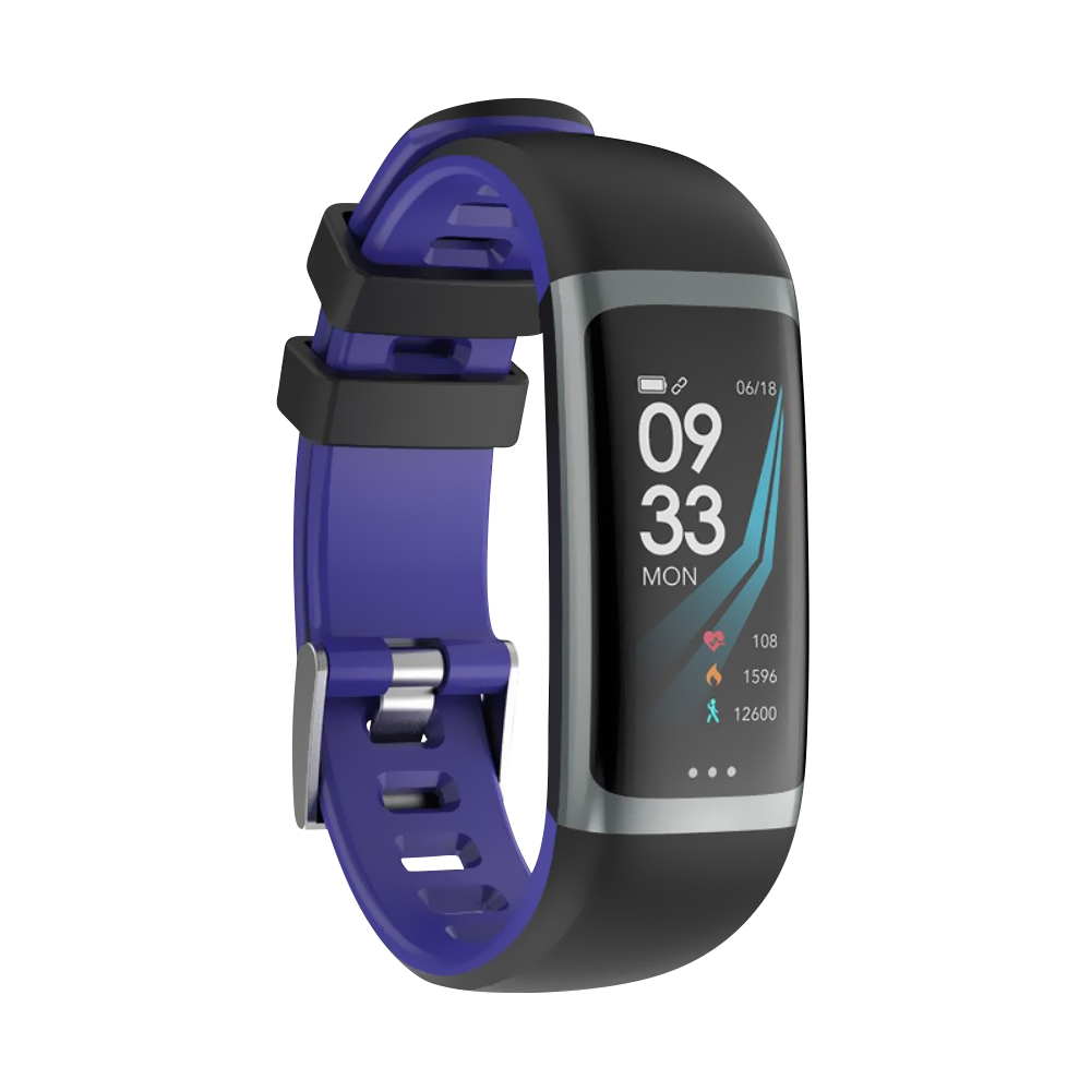 Bratara fitness inteligenta G26 cu functie de monitorizare somn, Tensiune arteriala, Ritm cardiac, Timer, Pedometru, IP54, Mov imagine