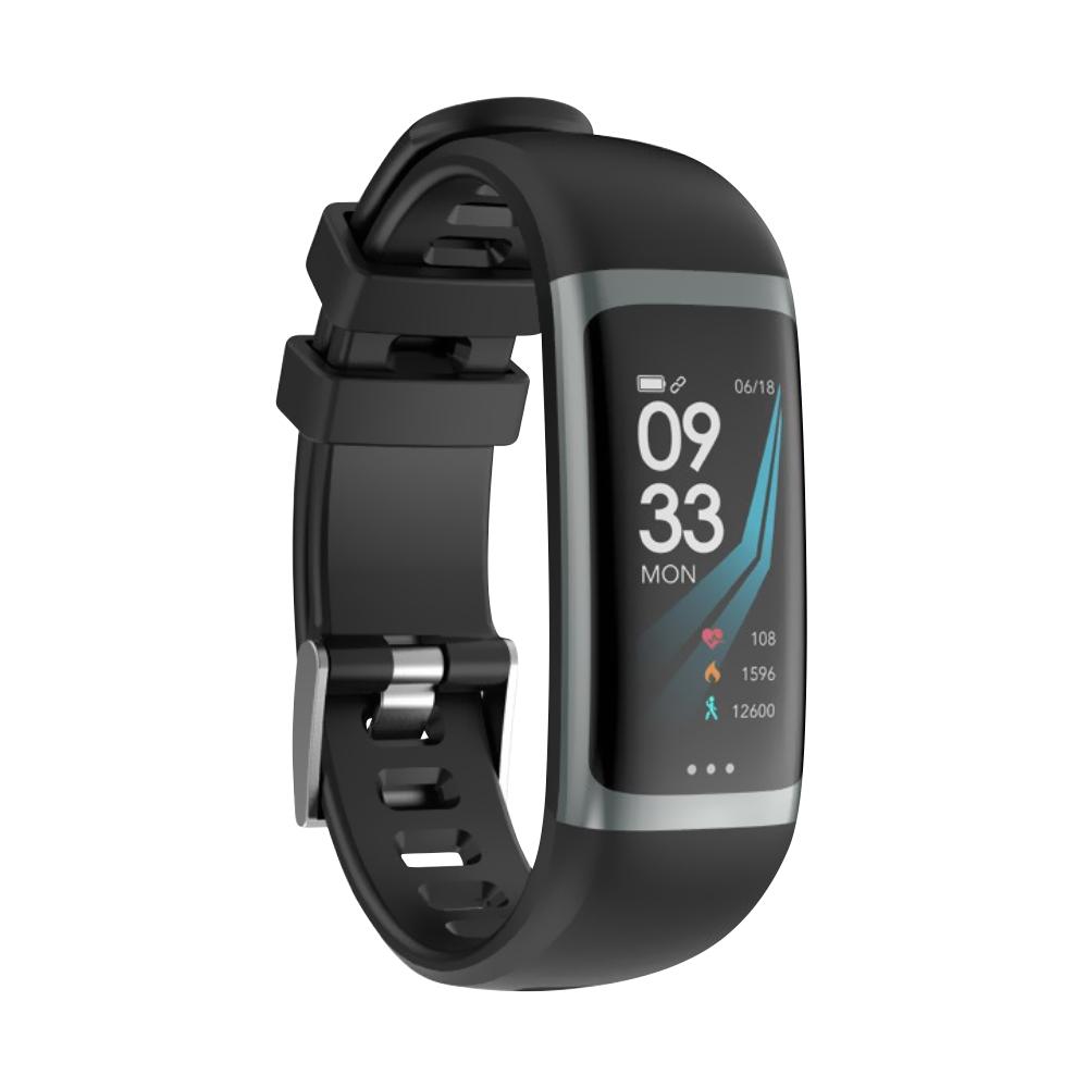 Bratara fitness inteligenta G26 cu functie de monitorizare somn, Tensiune arteriala, Ritm cardiac, Timer, Pedometru, IP54, Neagra imagine