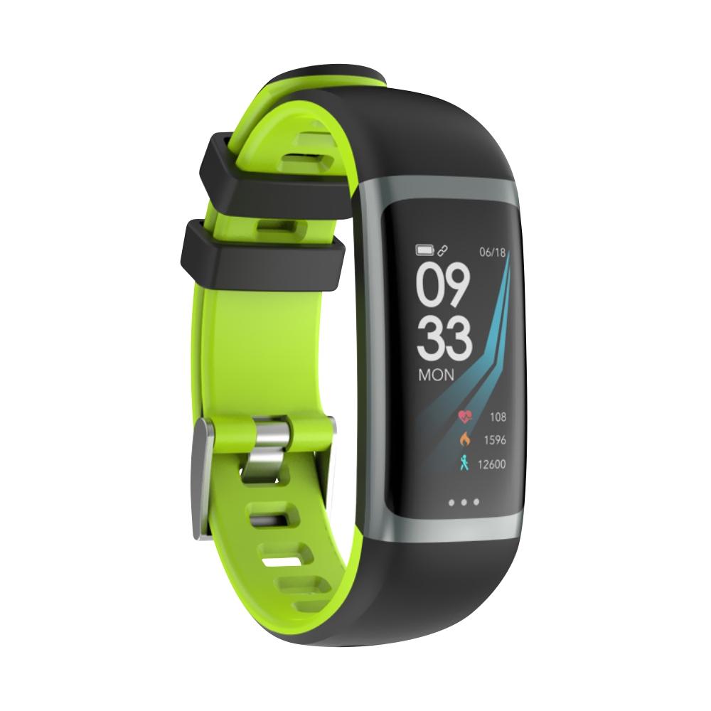 Bratara fitness inteligenta G26 cu functie de monitorizare somn, Tensiune arteriala, Ritm cardiac, Timer, Pedometru, IP54, Verde imagine