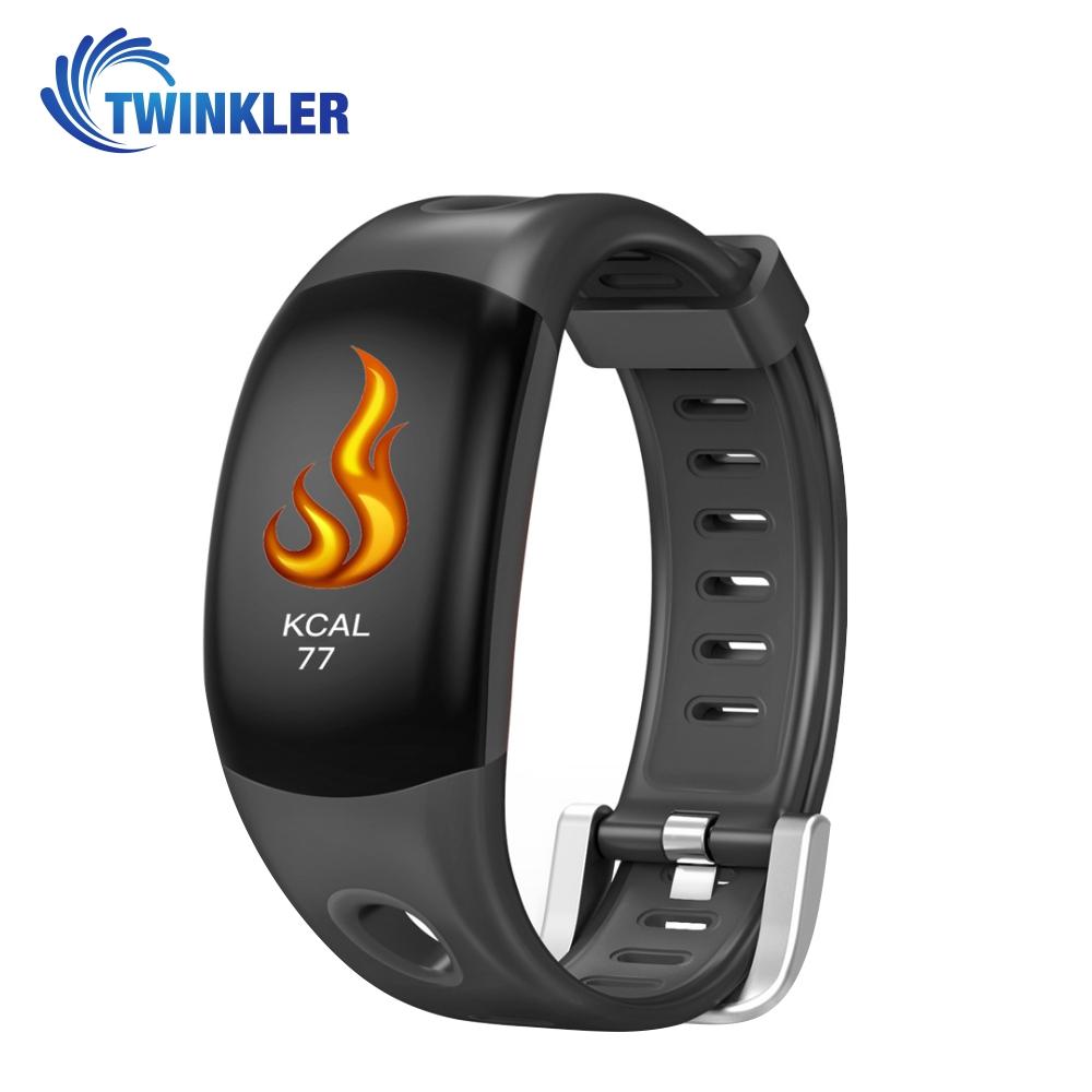 Bratara fitness inteligenta TKY-DM11 cu functie de monitorizare ritm cardiac, Monitorizare somn, Pedometru, Notificari, Neagra imagine