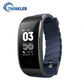 Bratara fitness inteligenta TKY-FS7 cu functie de monitorizare ritm cardiac, Monitorizare somn, Pedometru, Notificari, Albastra