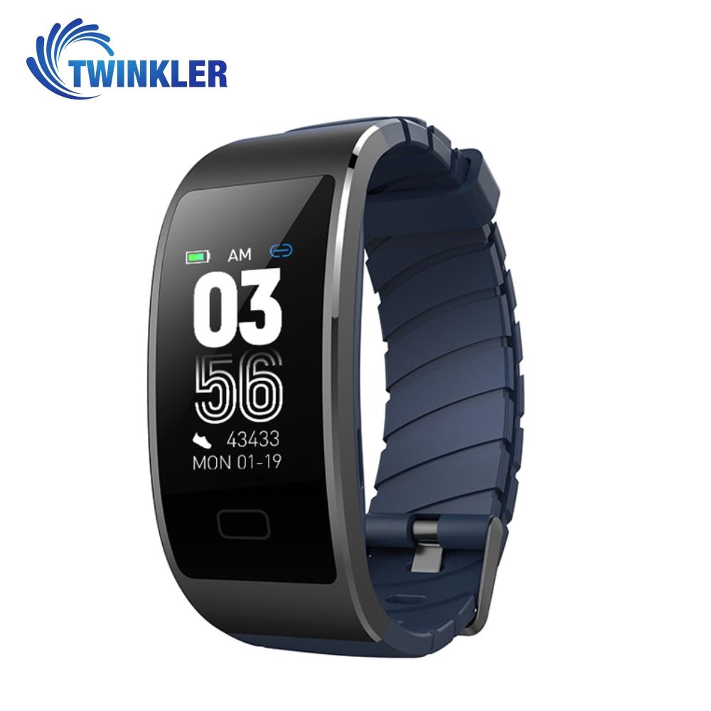 Bratara fitness inteligenta TKY-FS7 cu functie de monitorizare ritm cardiac, Monitorizare somn, Pedometru, Notificari, Albastra imagine