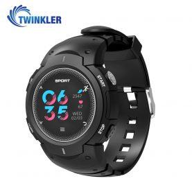 Ceas Smartwatch TKY-F8 cu functie de monitorizare ritm cardiac, Monitorizare somn, Pedometru, Notificari, Negru