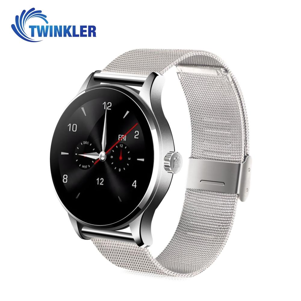 Ceas Smartwatch TKY-K88H cu Functie Apelare prin Bluetooth, Senzor puls, Notificari, Pedometru, Argintiu imagine