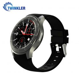 Ceas Smartwatch TKY-DM368 cu Functie Apelare, Ritm cardiac, GPS, WiFi, Pedometru, Android, Negru
