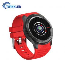 Ceas Smartwatch TKY-DM368 cu Functie Apelare, Ritm cardiac, GPS, WiFi, Pedometru, Android, Rosu