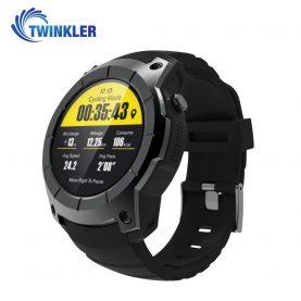 Ceas Smartwatch TKY-T1 cu Functie Apelare, Ritm cardiac, GPS, Barometru, Pedometru, Negru