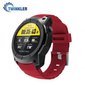 Ceas Smartwatch TKY-T1 cu Functie Apelare, Ritm cardiac, GPS, Barometru, Pedometru, Rosu