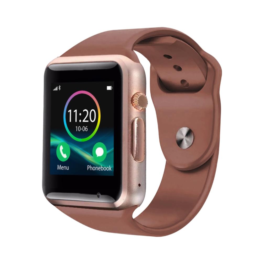 Ceas Smartwatch A1 cu Functie Apelare, SMS, Monitorizare somn, Camera, Pedometru, Bluetooth, Auriu imagine