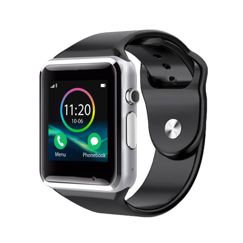 Ceas Smartwatch A1 cu Functie Apelare, SMS, Monitorizare somn, Camera, Pedometru, Bluetooth, Negru imagine