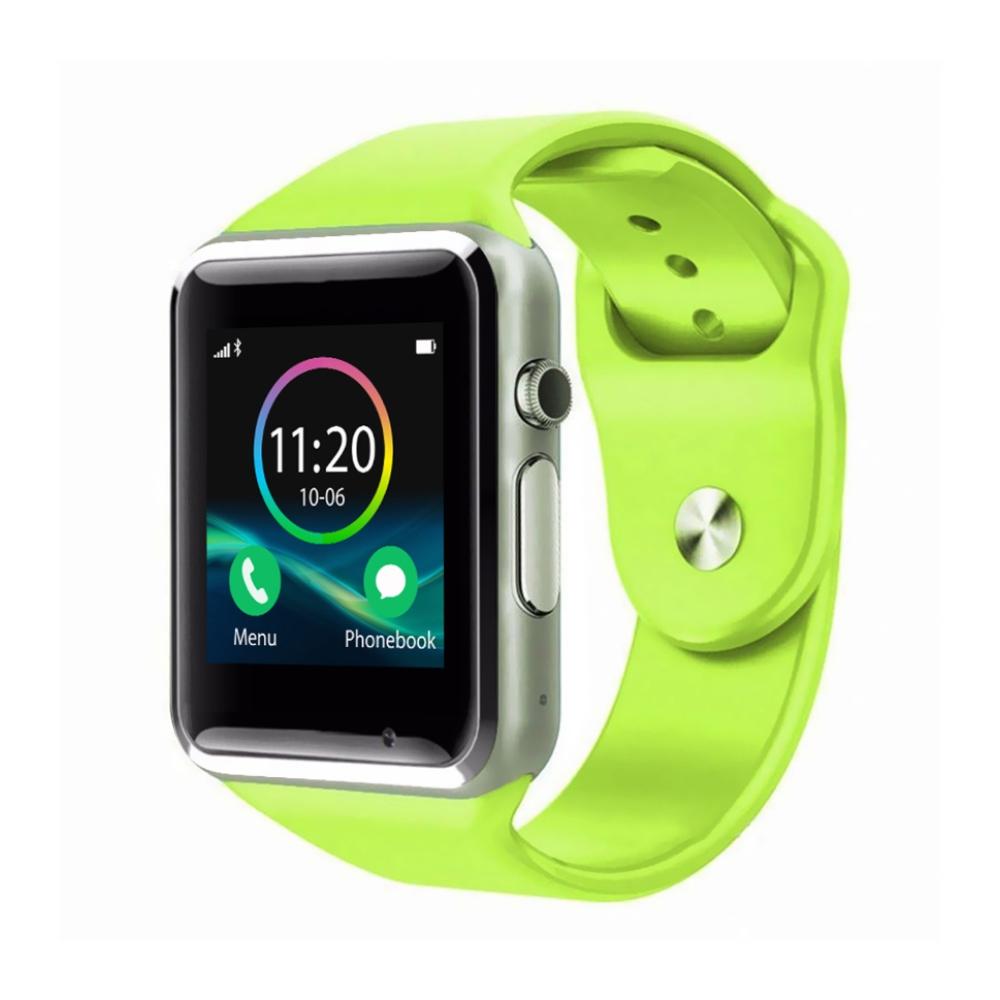 Ceas Smartwatch A1 cu Functie Apelare, SMS, Monitorizare somn, Camera, Pedometru, Bluetooth, Verde imagine