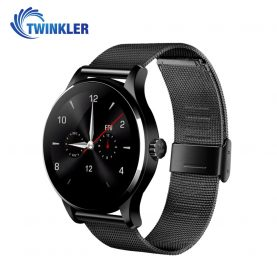 Ceas Smartwatch TKY-K88H cu Functie Apelare prin Bluetooth, Senzor puls, Notificari, Pedometru, Negru