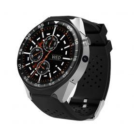 Ceas Smartwatch KW88 cu Functie Apelare, Senzor puls, Camera, Notificari, Pedometru, GPS, WiFi, 3G, Android, Argintiu