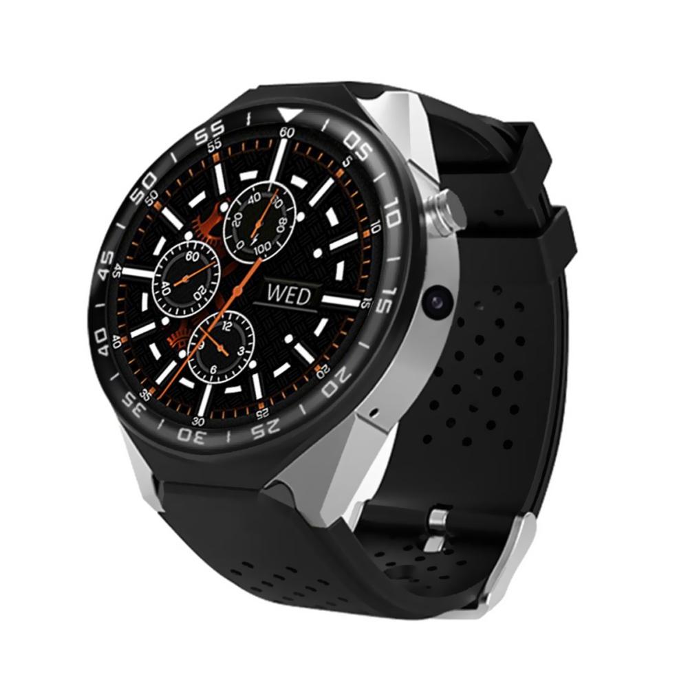 Ceas Smartwatch KW88 cu Functie Apelare, Senzor puls, Camera, Notificari, Pedometru, GPS, WiFi, 3G, Android, Argintiu imagine