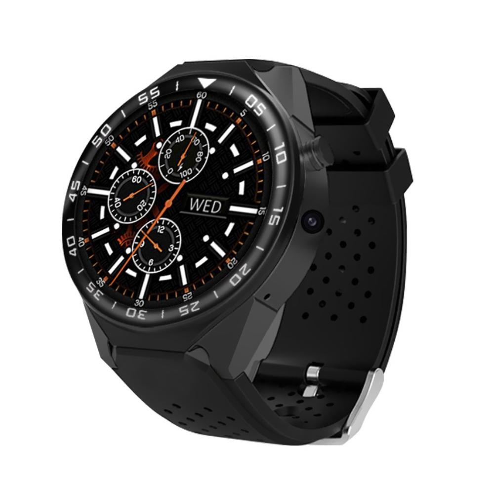 Ceas Smartwatch KW88 cu Functie Apelare, Senzor puls, Camera, Notificari, Pedometru, GPS, WiFi, 3G, Android, Negru imagine