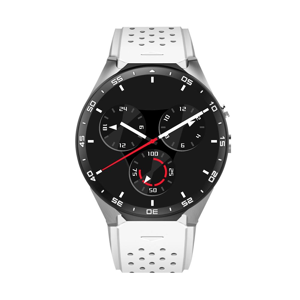 Ceas Smartwatch S99C cu Functie Apelare, Senzor puls, Camera, Notificari, Pedometru, GPS, WiFi, Memorie interna 2GB, 3G, Android, Alb imagine