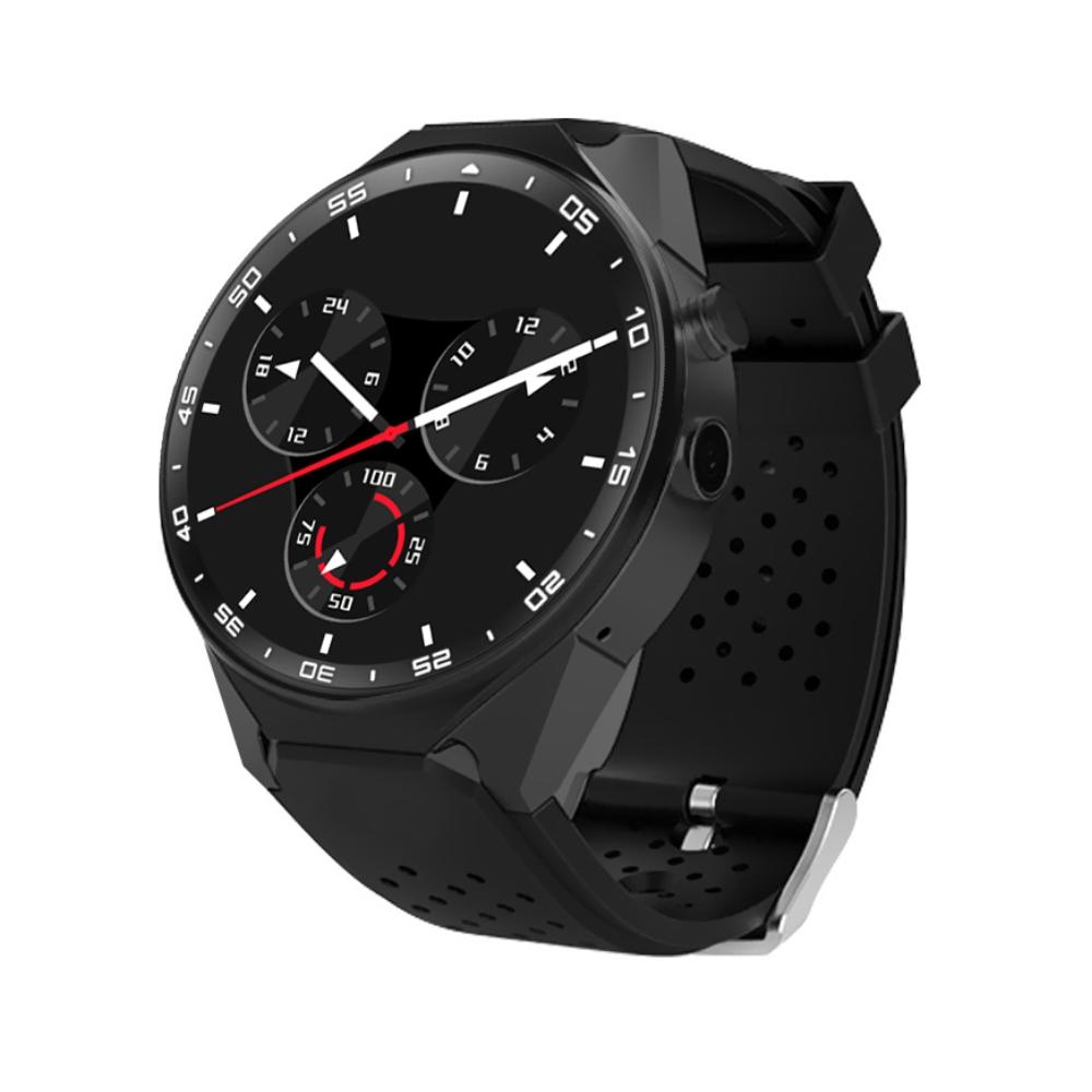 Ceas Smartwatch S99C cu Functie Apelare, Senzor puls, Camera, Notificari, Pedometru, GPS, WiFi, Memorie interna 2GB, 3G, Android, Negru imagine