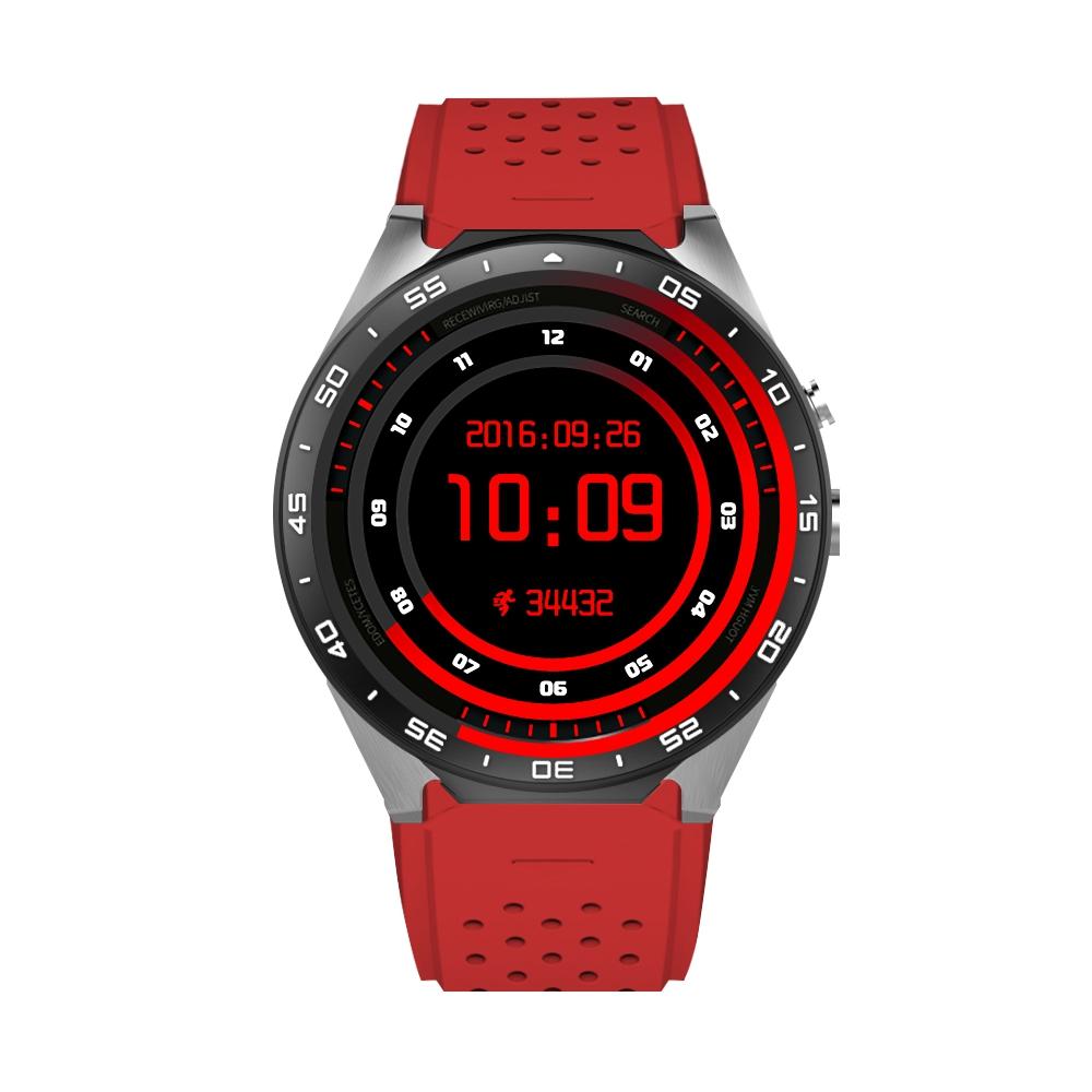 Ceas Smartwatch S99C cu Functie Apelare, Senzor puls, Camera, Notificari, Pedometru, GPS, WiFi, Memorie interna 2GB, 3G, Android, Rosu imagine