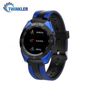 Ceas Smartwatch TKY-L3 cu Functie de monitorizare ritm cardiac, Notificari, Pedometru, Bluetooth, Albastru