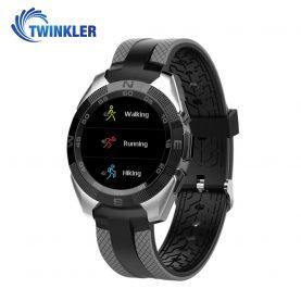 Ceas Smartwatch TKY-L3 cu Functie de monitorizare ritm cardiac, Notificari, Pedometru, Bluetooth, Argintiu